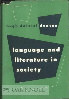 LANGUAGE AND LITERATURE IN SOCIETY
