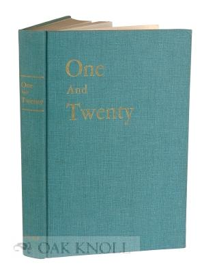 ONE AND TWENTY: DUKE NARRATIVE AND VERSE 1924-1945: Blackburn, William (editor)