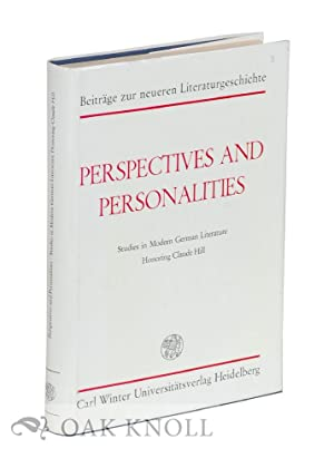 PERSEPCTIVES AND PERSONALITIES: STUDIES IN MODERN GERMAN: Ley, Ralph, Maria