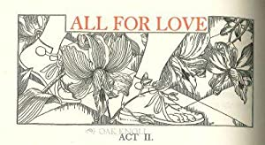 ALL FOR LOVE OR, THE WORLD WELL LOST: A TRAGEDY: Dryden, John