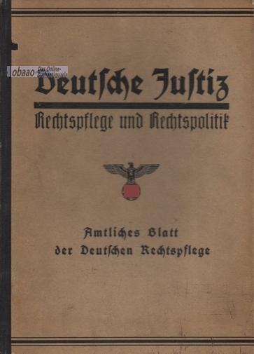 Deutsche Justiz. Rechtspflege und Rechtspolitik 1938 2.: Franz Gürtner (Hrsg.)
