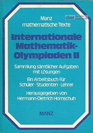 Internationale Mathematik-Olympiaden Band 2; 1969-1978