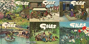 6 Bände Giles - Sunday Express & Daily Express Cartoons 1971 - 1976
