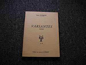 VARIANTES. Poemes: COQUET Jean