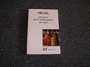 PRINCIPES DE LA PHILOSOPHIE DU DROIT: HEGEL G. W.