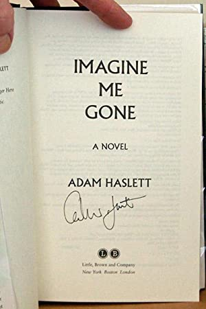 Imagine Me Gone, SIGNED BY AUTHOR