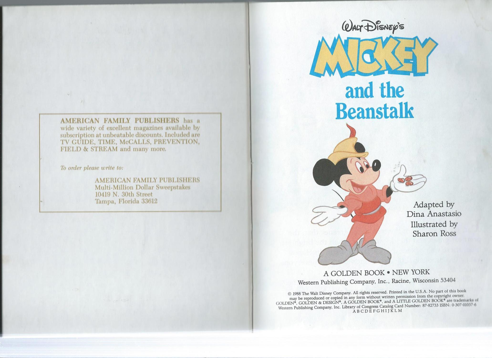 Walt Disney's Mickey and the Beanstalk