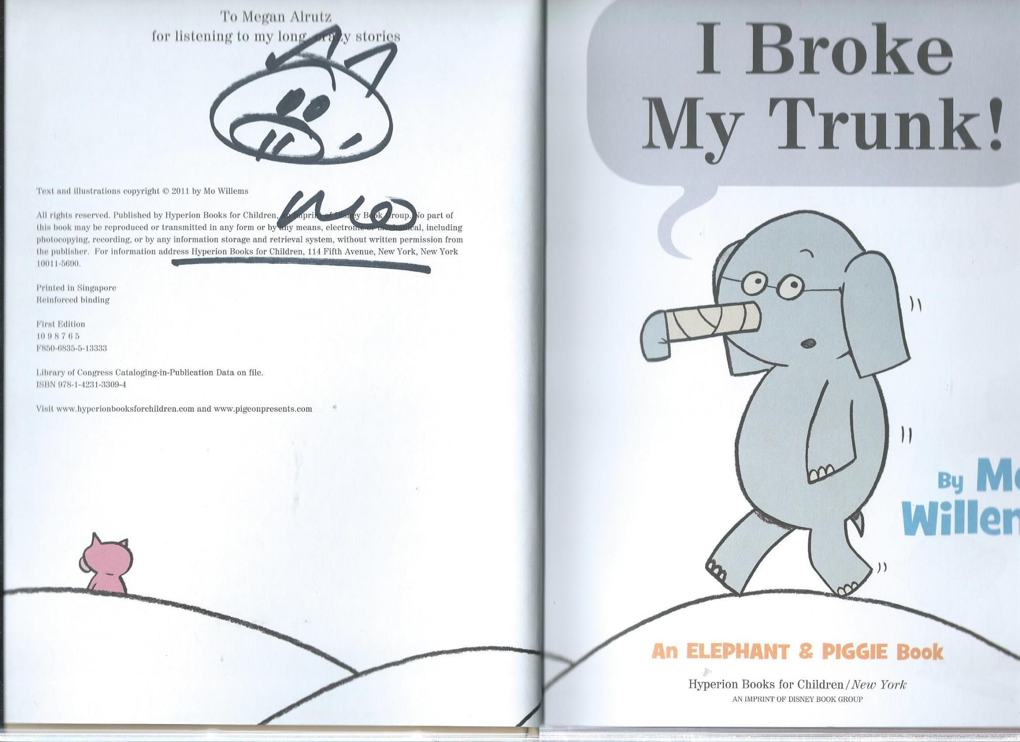 An elephant and piggie book willems