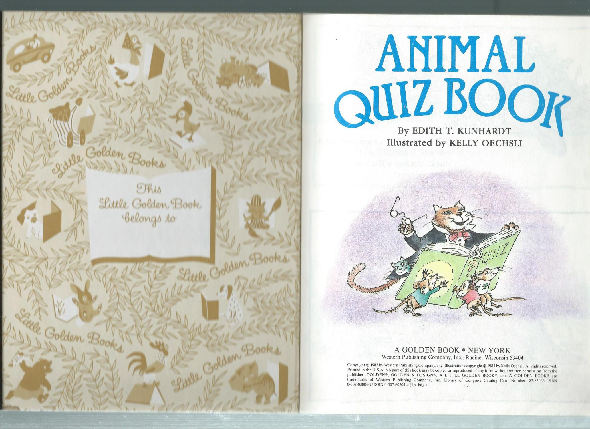 Animal Quiz Book (Little Golden Books)