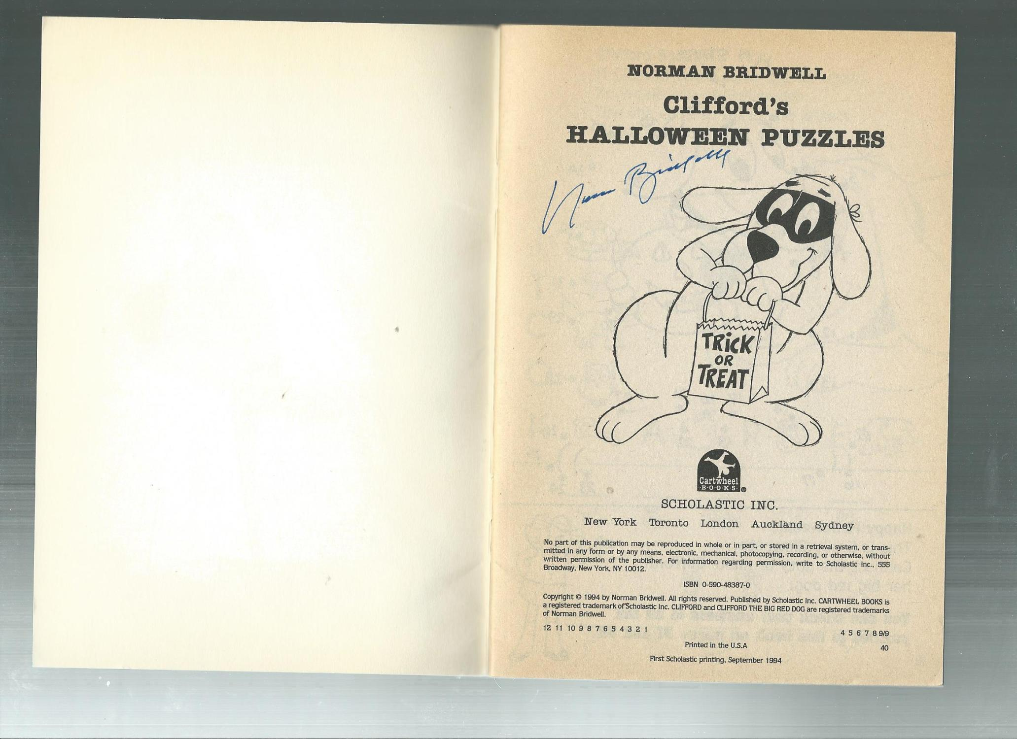 norman cliffords halloween puzzles bridwell