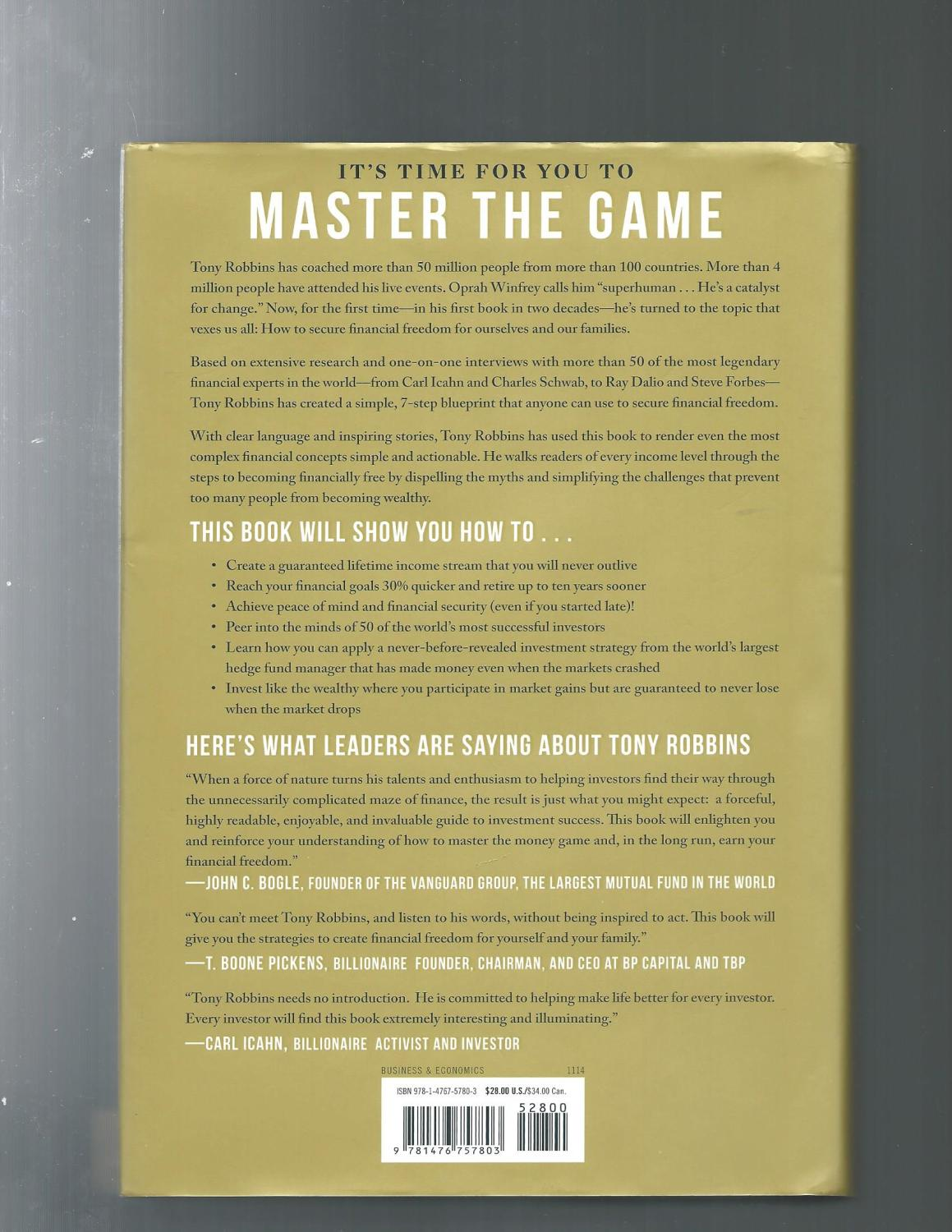 Money master the game 7 simple steps to financial freedom by tony money master the game 7 simple steps to financial freedom tony robbins malvernweather Image collections