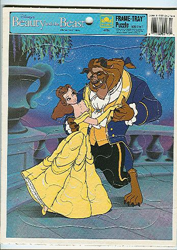 The Beauty And The Beast Frame Tray Puzzle 4175a By Disney Walt
