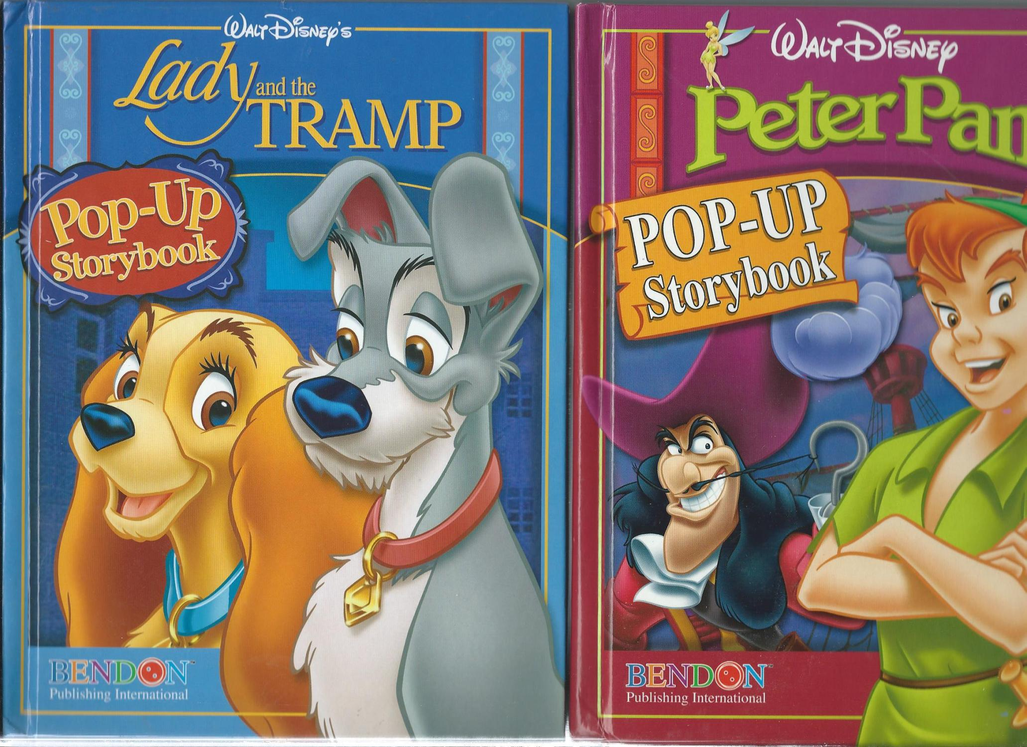 4-Pop-up Storybook Classic Collection in slipcase: LION KING, LADY AND THE TRAMP, BAMBI, PETERPAN: ...