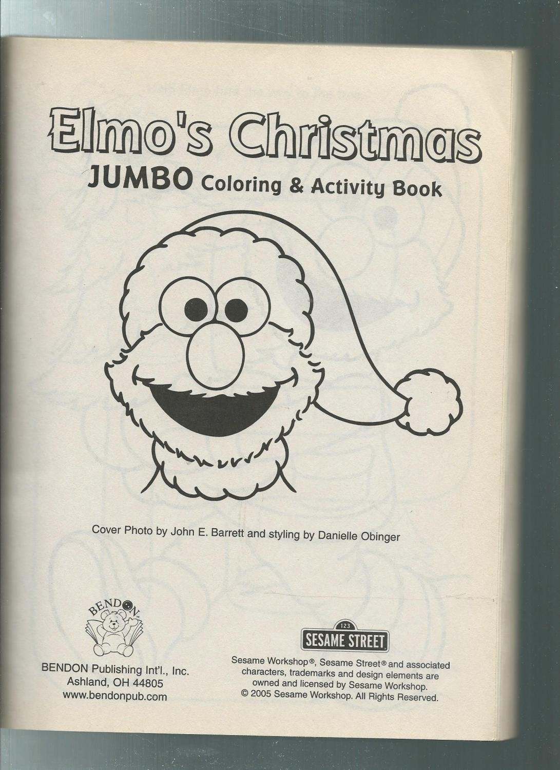 sesame street christmas jumbo color activity book john barrett