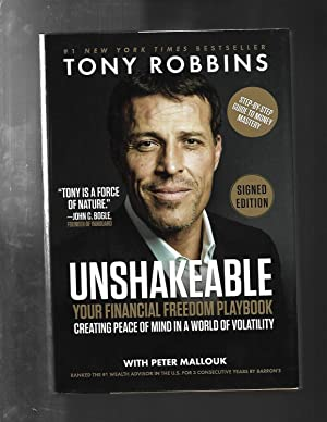 UNSHAKEABLE: Your Financial Freedom Playbook SIGNED / AUTOGRAPHED by Tony Robbins (SIGNED EDITION)