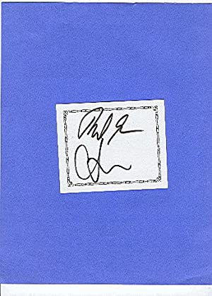 SIGNED BOOKPLATES/AUTOGRAPHS by authors ROBERT & CHRISTOPHER SCHEER