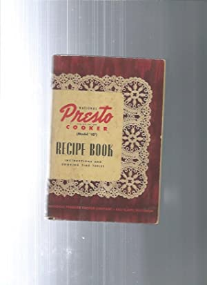 Natinoal PRESTO COOKER model 40 recipe book: national pressure cooker
