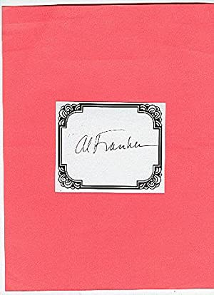 **SIGNED BOOKPLATES/AUTOGRAPH by author/political AL FRANKIN**