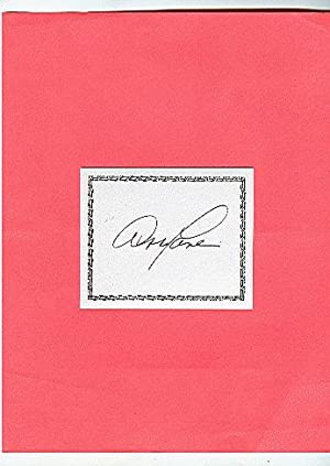 SIGNED BOOKPLATES/AUTOGRAPH card by actress ABBY LANE: Lane, Abby