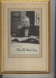 SIGNED BOOKPLATES/AUTOGRAPHS a b/w photo of ARICHIBALD COX