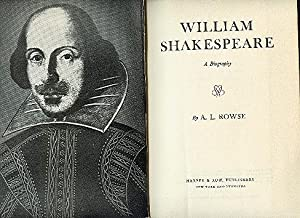 WILLIAM SHAKESPEARE a biography