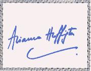 SIGNED BOOKPLATES/AUTOGRAPHS by author ARIANNA HUFFINGTON