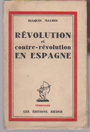 Révolution et contre-révolution en Espagne,: MAURIN Joaquin