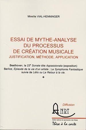 Essai de mythe-analyse du processus de création: VIAL-HENNINGER Mireille,