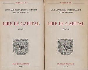 Lire le Capital: 2 volumes,: ALTHUSSER Louis, BALIBAR