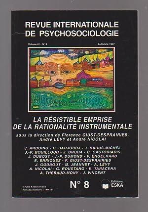 Revue internationale de psychosociologie, Volume IV, n°: GIUST-DESPRAIRIES Florence, LEVY