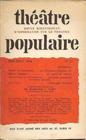 Théâtre Populaire n° 7,: COLLECTIF (revue),