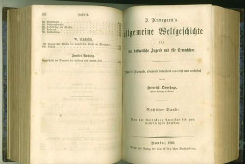 Annegarn s allgemeine Weltgeschichte für die katholische: Annegarn, Josef.