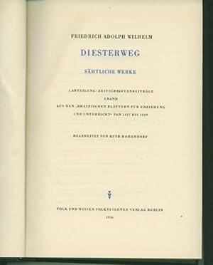 Sämtliche Werke. Hrsg. von Heinrich Deiters, Hans: Diesterweg, Friedrich Adolph