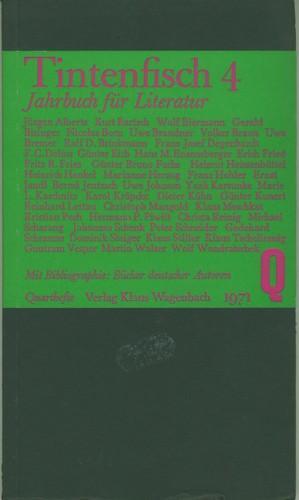 Jahrbuch für Literatur.: Tintenfisch 4. (Hrsg.)