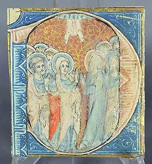 Miniature sur vélin, début du XVe siècle : la Pentecôte