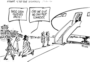 Caricature) Kadhafi s'est joué de Sarkozy, 14 décembre 2007.: Pétillon
