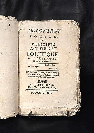 Du contrat social, ou principes du droit: ROUSSEAU