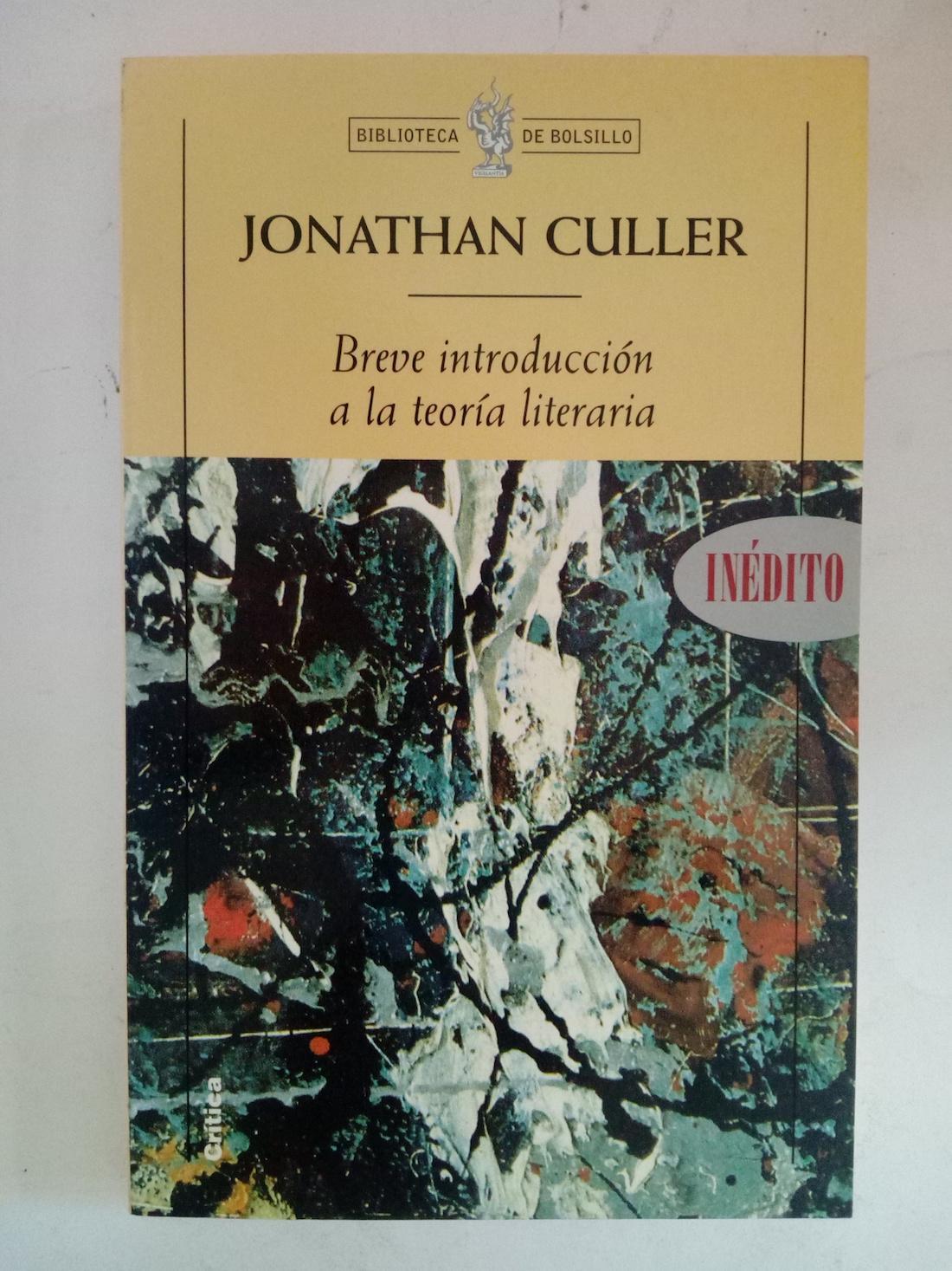 breve introduccion a la teoria literaria jonathan culler
