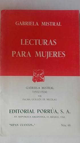 Lecturas para mujeres: Gabriela Mistral /
