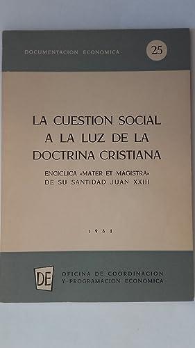 La cuestión social a la luz de: Juan XXIII