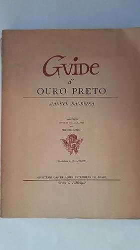 Guide d'Ouro Preto: Manuel Bandeira