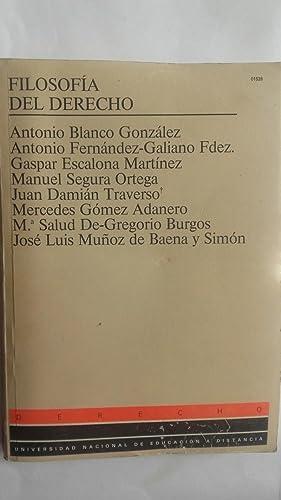 Filosofía del Derecho: Antonio Blanco, Antonio