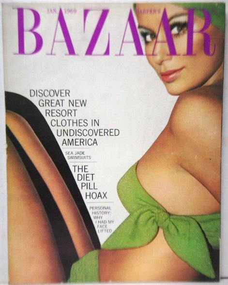Harper's Bazaar (magazine, USA) January, 1969 Very Good Softcover cover: Bikini by Oscar de La Renta, cover photo by Silano. [Discover great new resort clothes in undiscovered America / Sea jade swimsuits / The diet