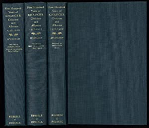 Five Hundred Years of Chaucer Criticism and: Chaucer,Geoffrey�