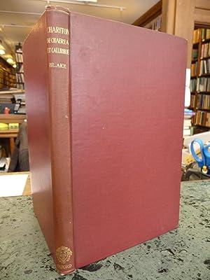 Charitonis Aphrodisiensis: De Chaerea et Callirhoe Amatoriarum Narrationum Libri Octo: Chariton of ...