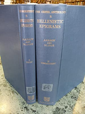 The Greek Anthology: Hellenistic Epigrams - 2-Volume Set: Vol. I: Introduction, Text, and Indexes ...