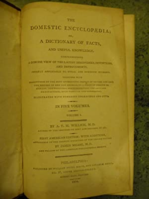 The Domestic Encyclopaedia; or, A Dictionary of Facts, and Useful Knowledge. (Complete 5-Volume Set...