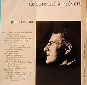 De Ronsard à Prévert *: JACCOTTET Philippe] CHEVRIER Jean :