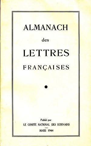 Almanach des lettres françaises *: Collectif :