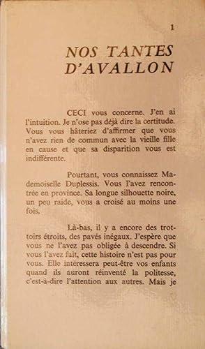 Nos tantes d'Avallon *: FOUGERE Jean :